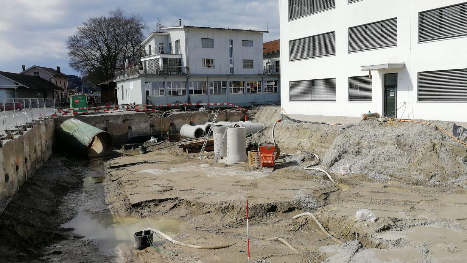 Foto der Baustelle am 17.03.2019